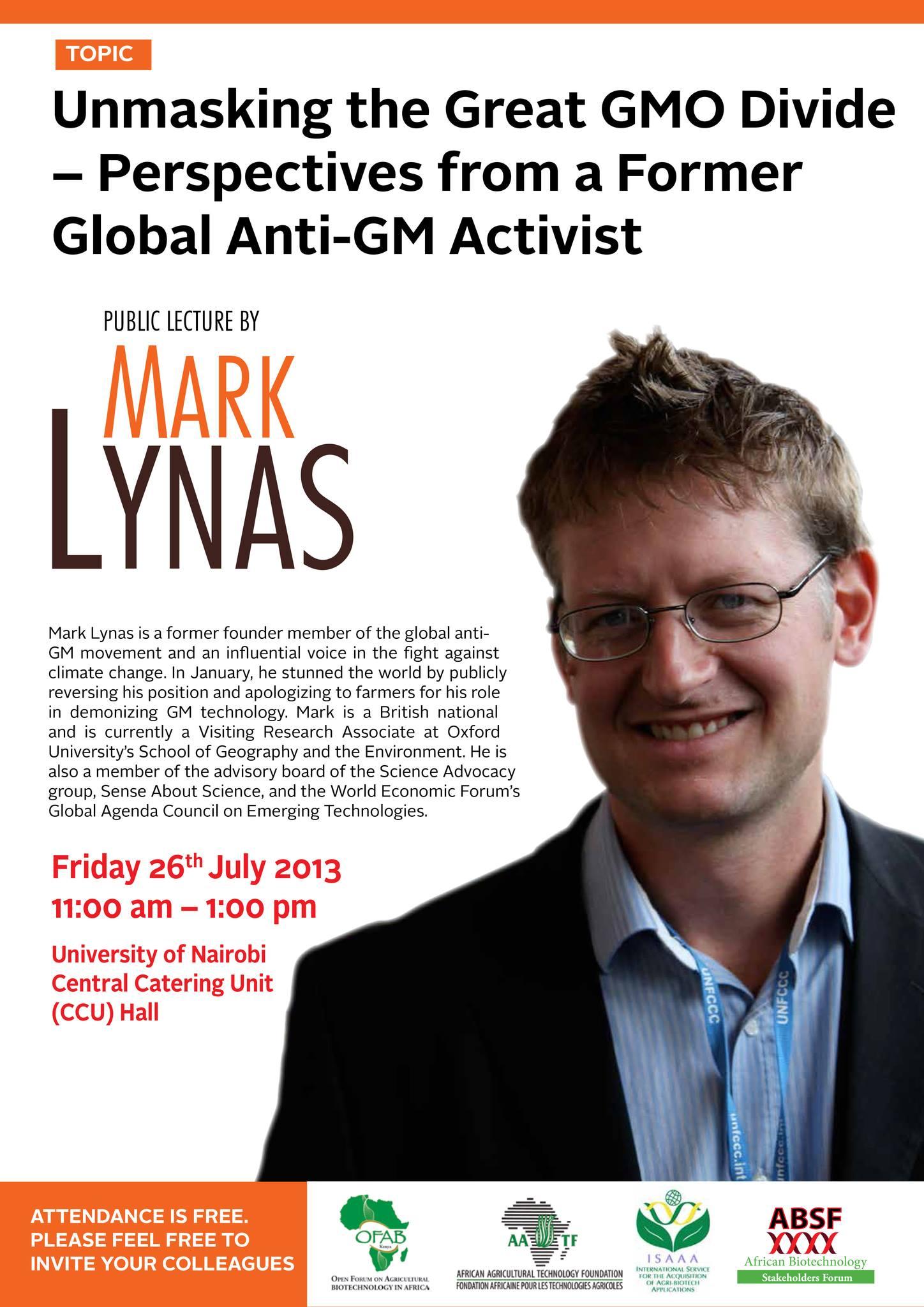 Mark Lynas flier