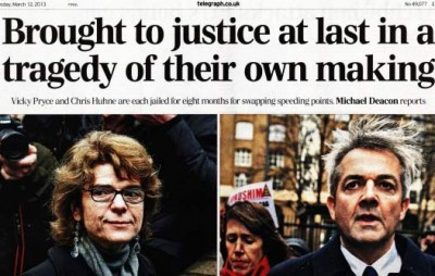 Downfall of Huhne and Pryce: how politicians fall victim to an overconfident media presentation