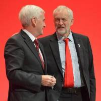 Jeremy Corbyn and John McDonnell at the 2016 Labour conference
